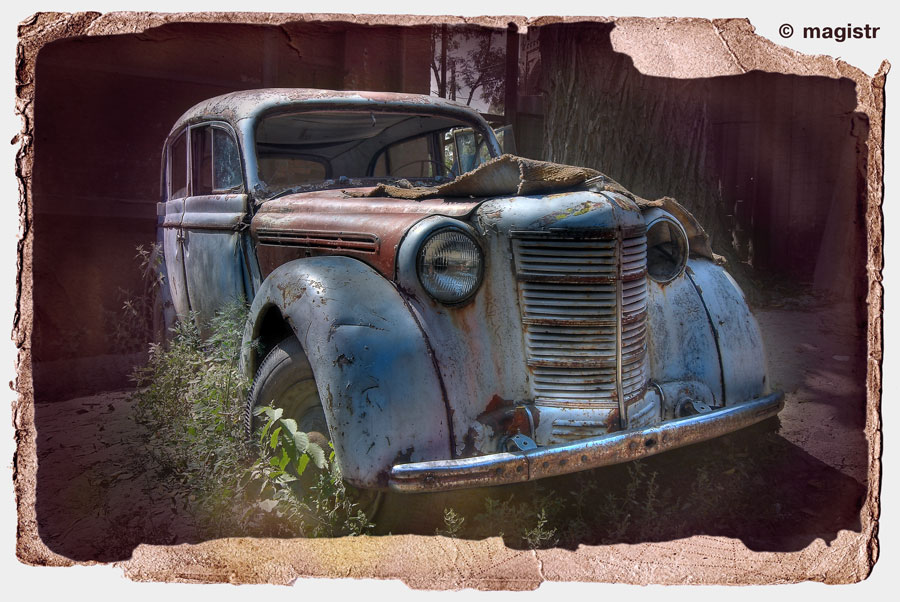 "photo ""Old Car"" tags: technics, old-time,"