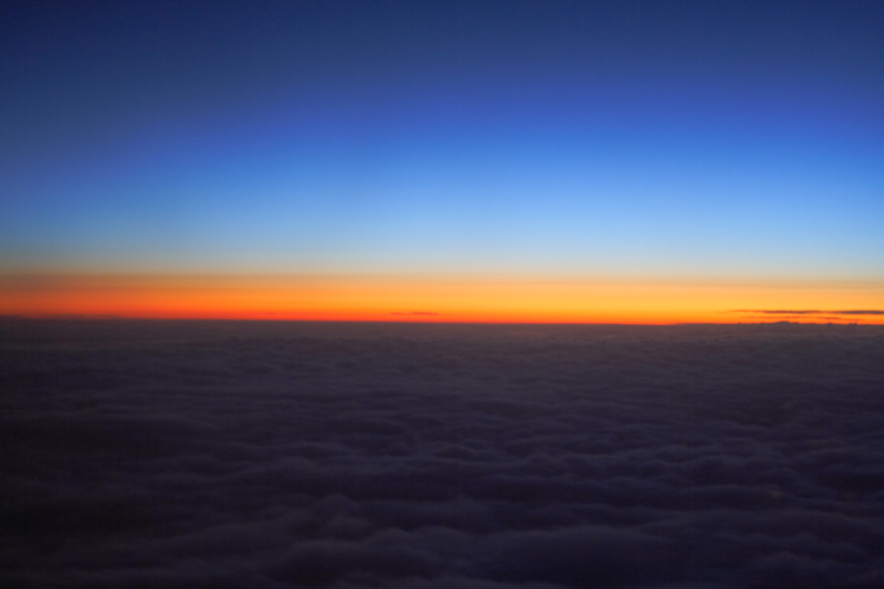 "photo ""Sunset Above the Clouds"" tags: landscape, clouds, sunset"