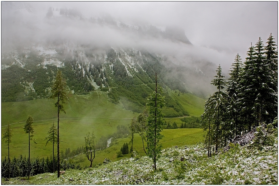 "photo ""Snow in the middle of a summer"" tags: landscape, travel, Europe, mountains"