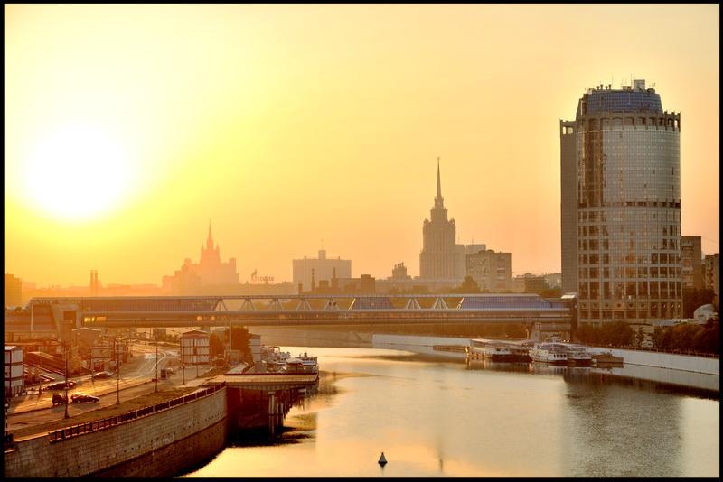 """фото """"Moscow Heat"""" метки: архитектура, пейзаж, закат"""
