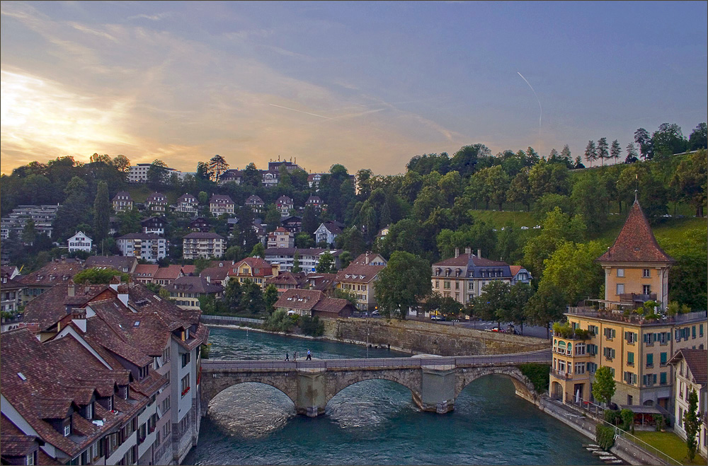 "photo ""summer evening in Bern .."" tags: architecture, travel, landscape, Europe"