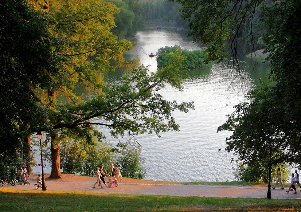 "фото ""Жарким вечером в Москве..."" метки: пейзаж, вода, осень"