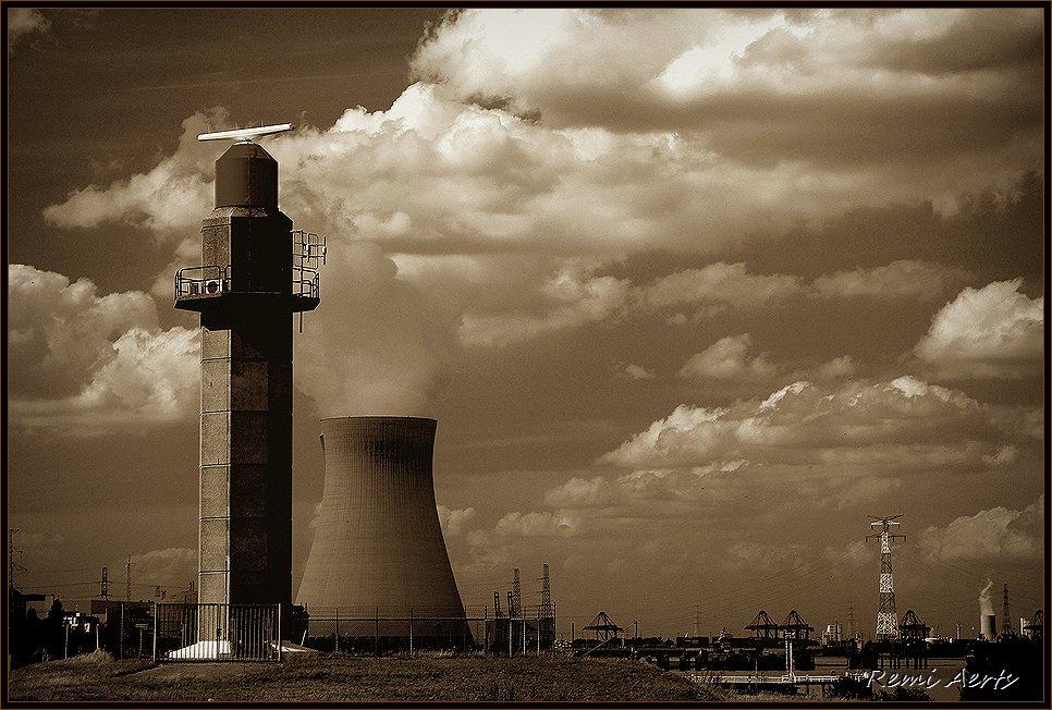 """фото """"industry"""" метки: архитектура, пейзаж, закат"""