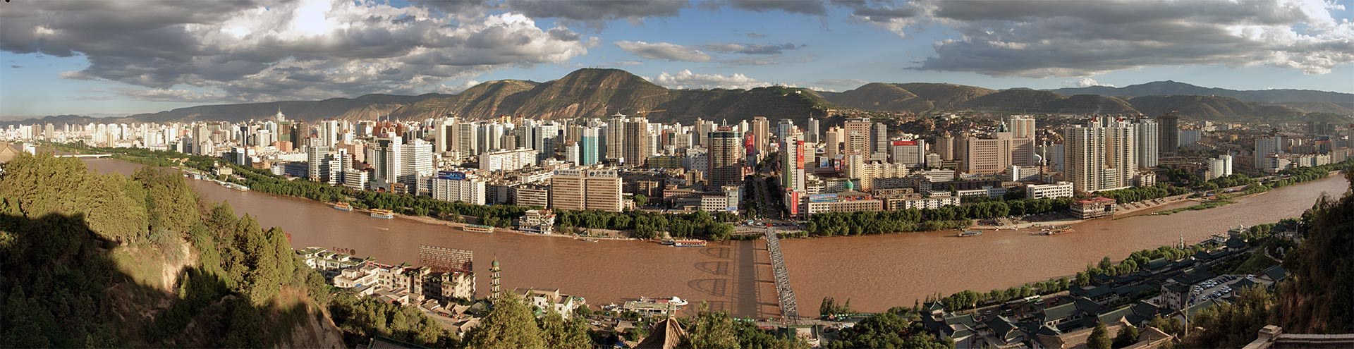 "photo ""Lanzhou"" tags: panoramic, travel, Asia"