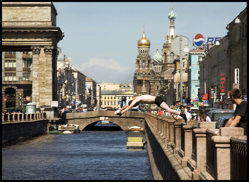 """фото """"Прыжок в канал Грибоедова"""" метки: ,"""