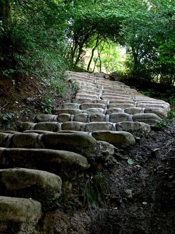 "photo ""Steps to St. Nino spring Georgia"" tags: travel, reporting, Europe"
