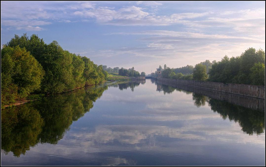 """фото """"Шлюз на Оке"""" метки: пейзаж, вода, лето"""