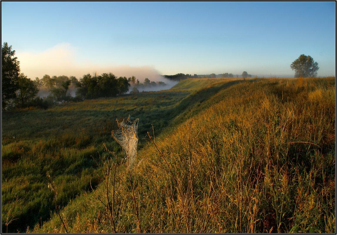 "фото ""Над рекой туман..."" метки: пейзаж, закат, лето"