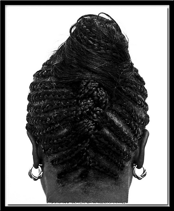 "photo ""Braids"" tags: black&white, portrait, woman"