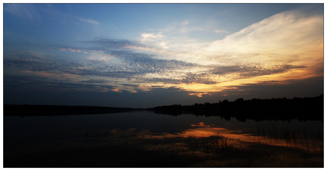 "photo ""Summer night"" tags: landscape, night, water"