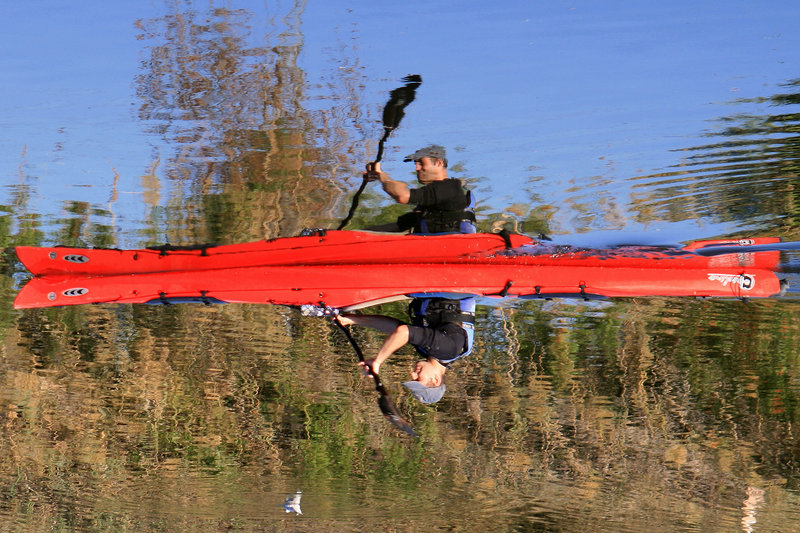 "photo ""There's no knowing where we're rowing"" tags: landscape, sport, water"
