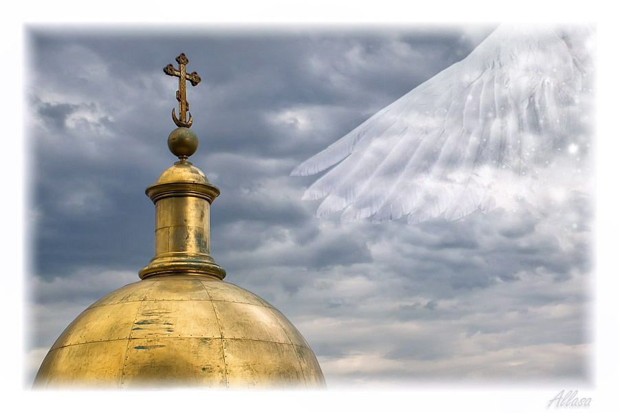 """фото """"Прикосновение Ангела"""" метки: фотомонтаж, digital art,"""