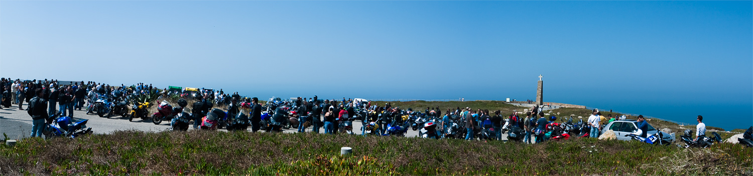 "photo ""Sea ... Motorcyclists"" tags: travel, panoramic, Europe"