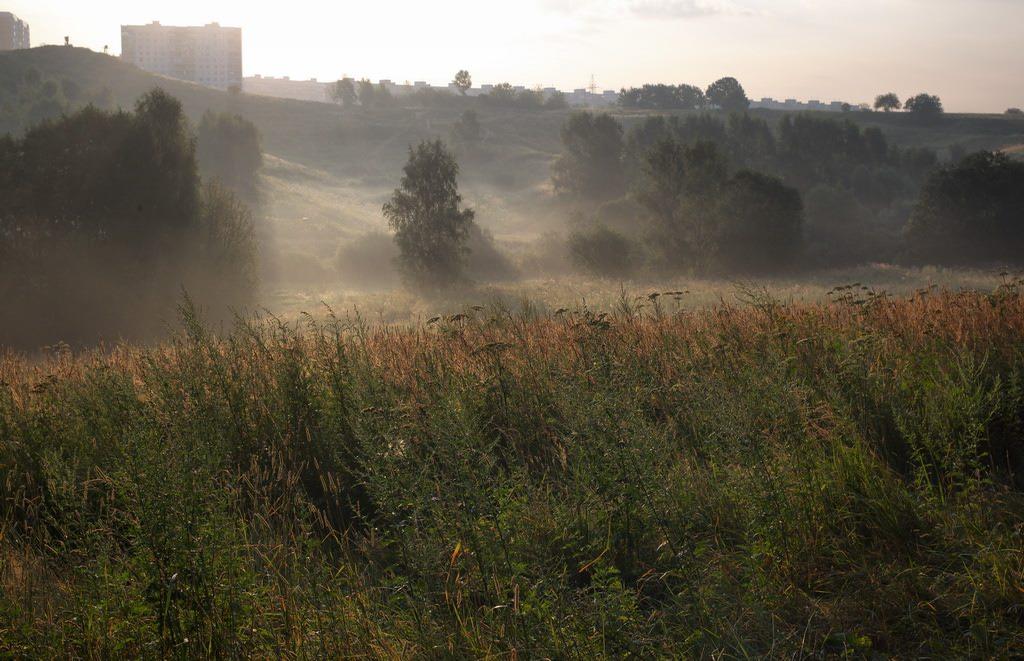 """фото """"Окраина. Раннее утро."""" метки: архитектура, пейзаж,"""