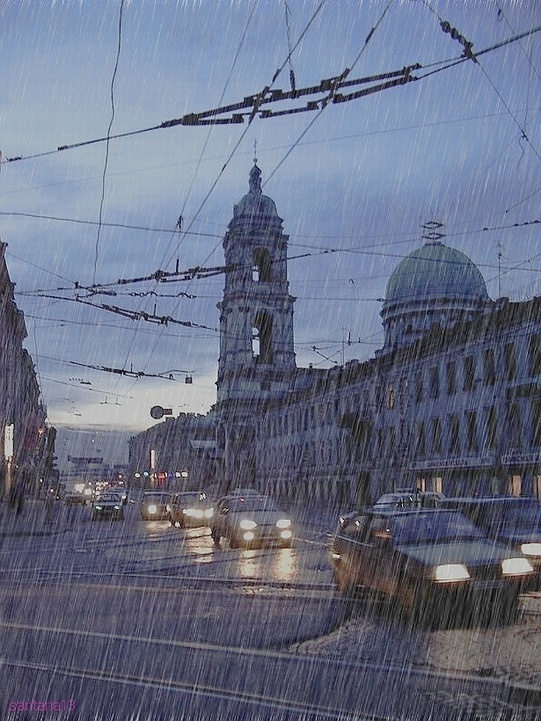 "photo ""The rain in St. Petersburg"" tags: architecture, landscape,"