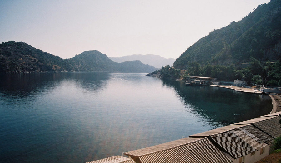 "photo ""Bay near Marmaris"" tags: landscape, mountains, water"