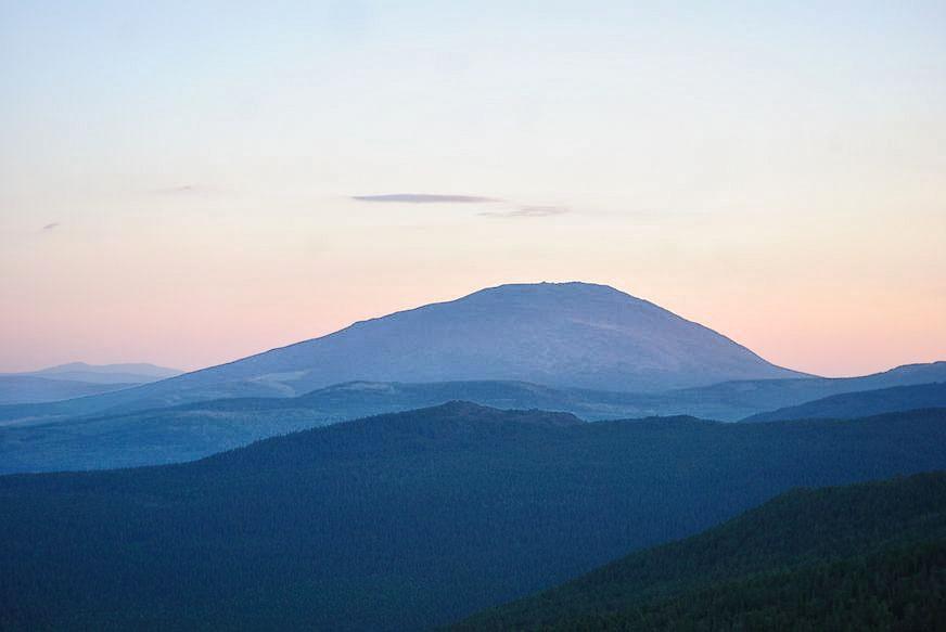 "фото ""Розовый закат"" метки: пейзаж, горы"