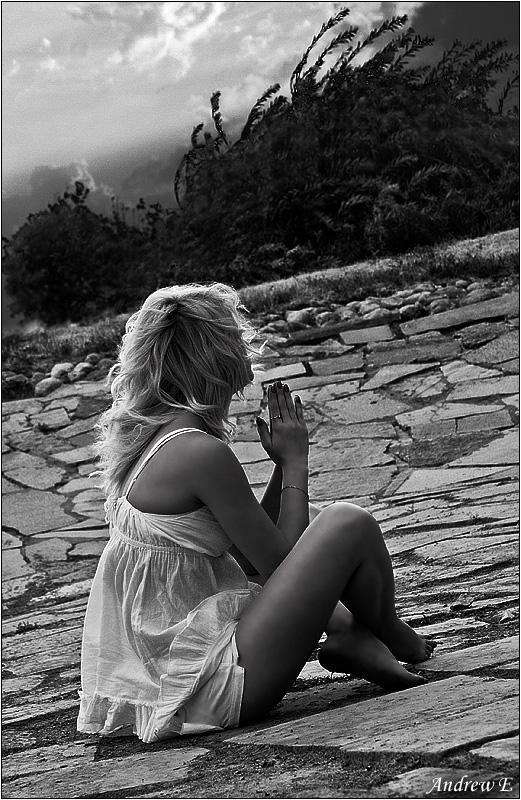 """фото """"Молитва"""" метки: черно-белые, портрет, женщина"""