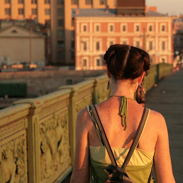"""фото """"Стильное солнце"""" метки: пейзаж, портрет, женщина, закат"""