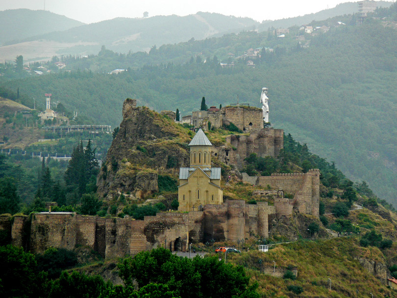 "photo ""Narikala Fortress Tbilisi Georgia"" tags: landscape, architecture,"