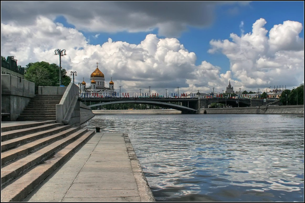 "photo ""Moscow. Summer."" tags: architecture, landscape, water"