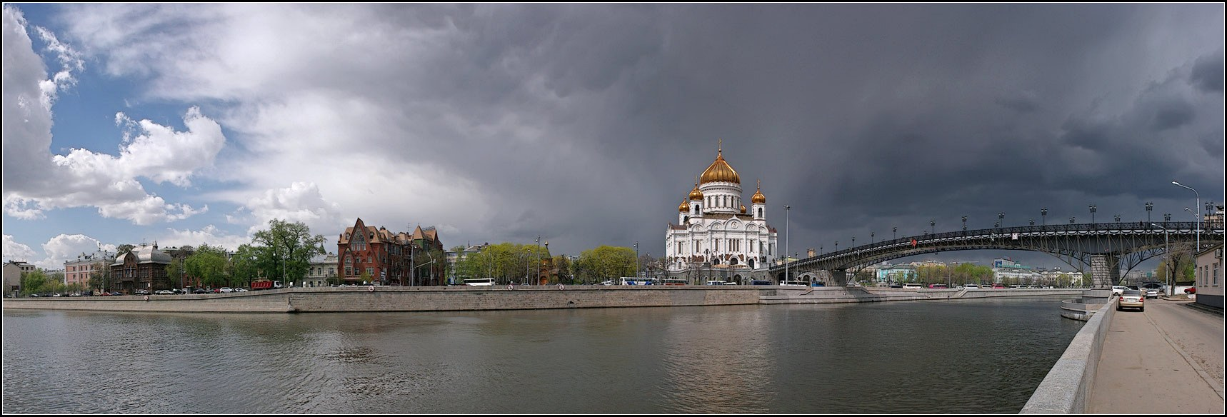 "photo ""Storm approaching"" tags: city, panoramic,"