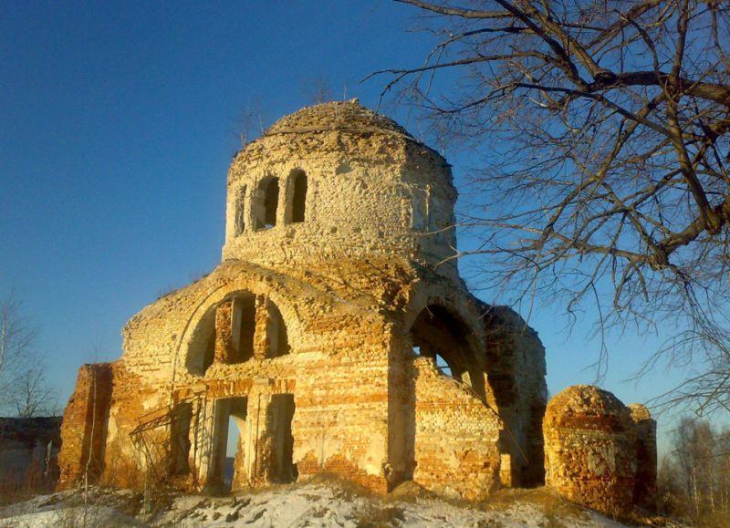 "photo ""Россия,храм,церковь,руины"" tags: genre, architecture, landscape,"