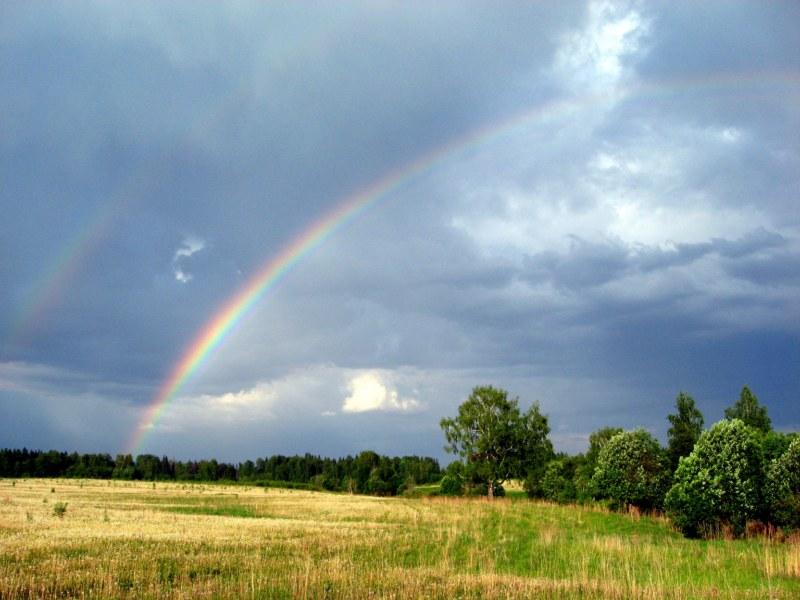 "photo ""радуга,пейзаж,лето,природа"" tags: landscape, summer"