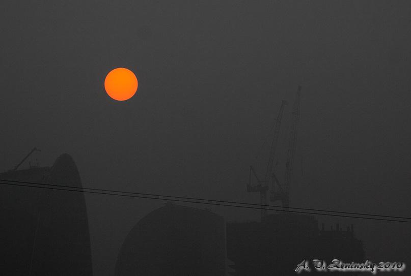 "photo ""Red Eye sun"" tags: city, landscape, sunset"