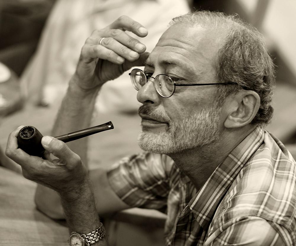 "фото ""Heavy smoker pipe 2"" метки: черно-белые, портрет, мужчина"