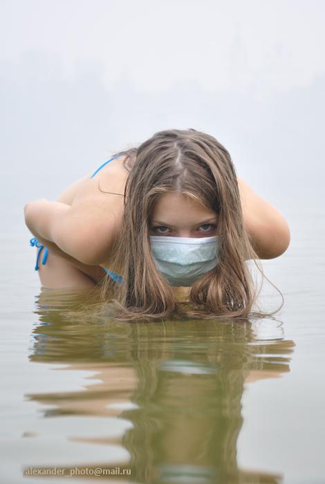 """photo """"Mist"""" tags: portrait, humor, woman"""