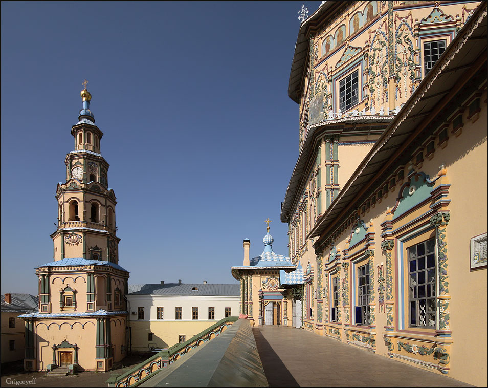 "photo ""Cathedral and bell tower. Kazan"" tags: architecture, landscape,"