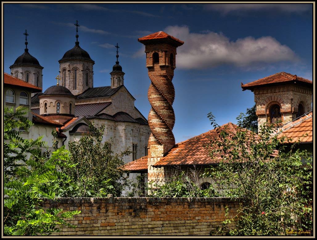 "photo ""Monastery-Kovilj-Serbia"" tags: architecture, landscape,"