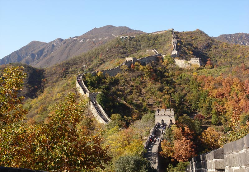 "photo ""Great Wall Mutaniu"" tags: architecture, landscape, mountains"