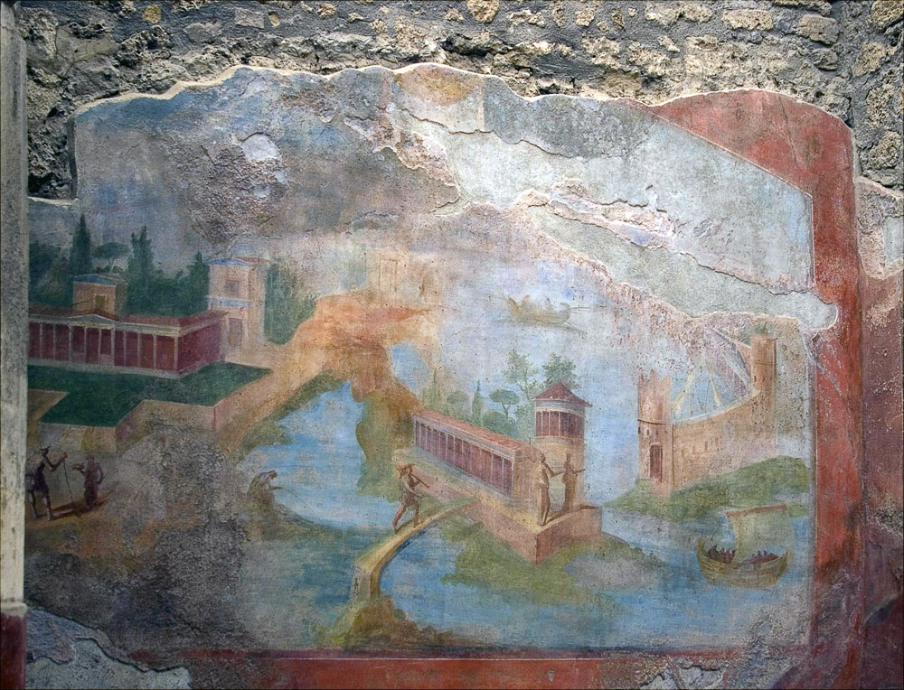 """photo """"Fresco from Pompeii."""" tags: fragment,"""