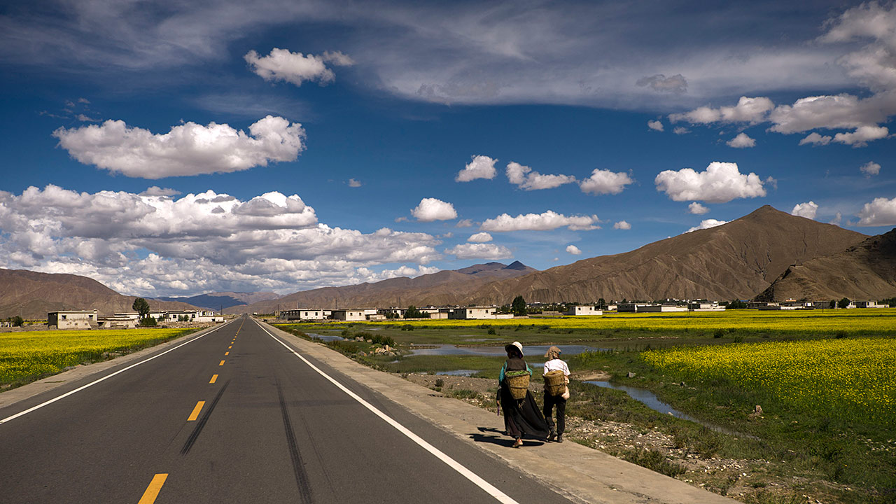 "photo ""Friendship Higway"" tags: landscape, travel, Asia"