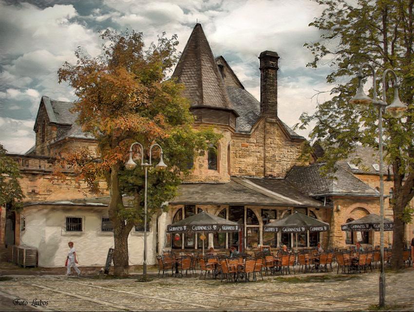 """фото """"Вокзал в Госларе"""" метки: город,"""