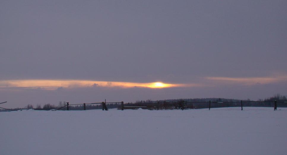 "фото ""Зимний закат"" метки: пейзаж, закат"