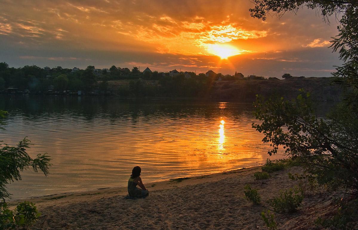 """фото """"Наблюдая закат..."""" метки: пейзаж, закат"""