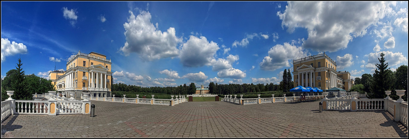 "photo ""the Palace Museum Arkhangelskoe"" tags: architecture, panoramic, landscape,"