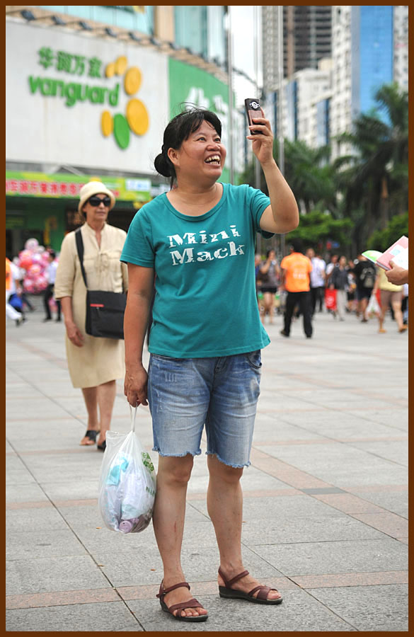 "photo ""Portrait-34-Smile!Take picture!"" tags: portrait, reporting, woman"