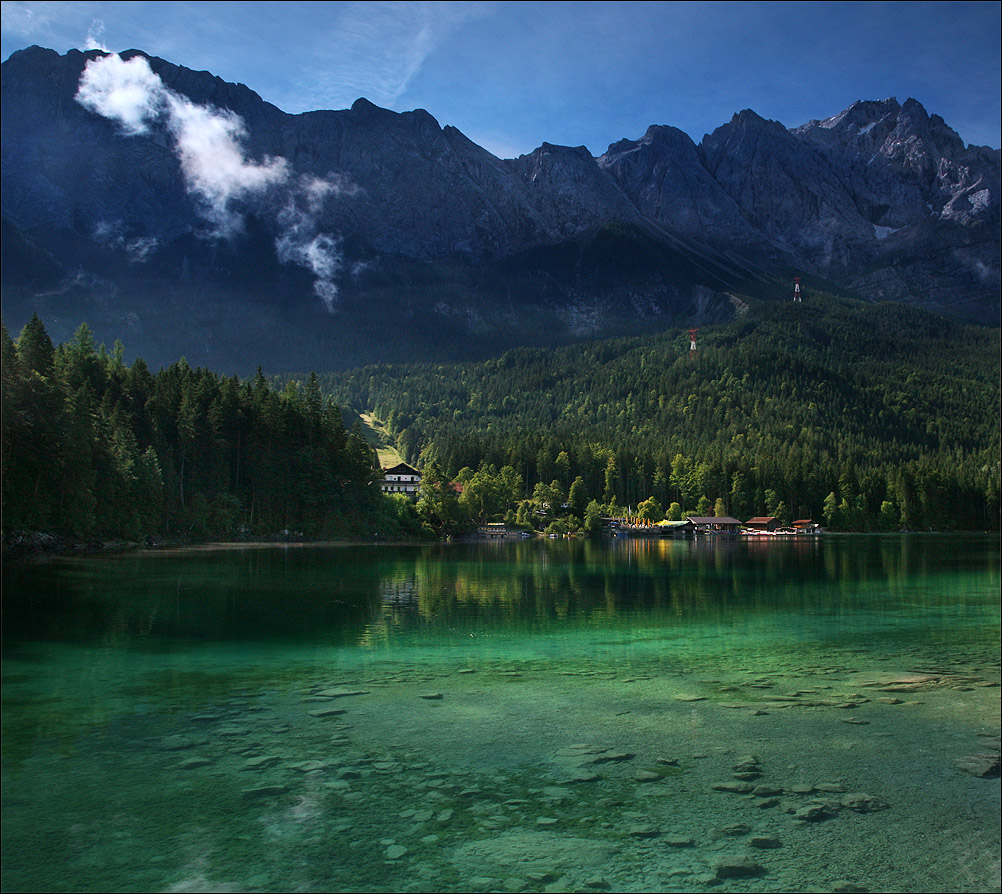 "photo ""Eibsee"" tags: landscape, mountains, water"