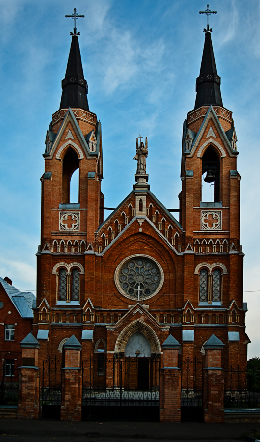 "photo ""Catholic church in Tambov"" tags: architecture, travel, landscape,"