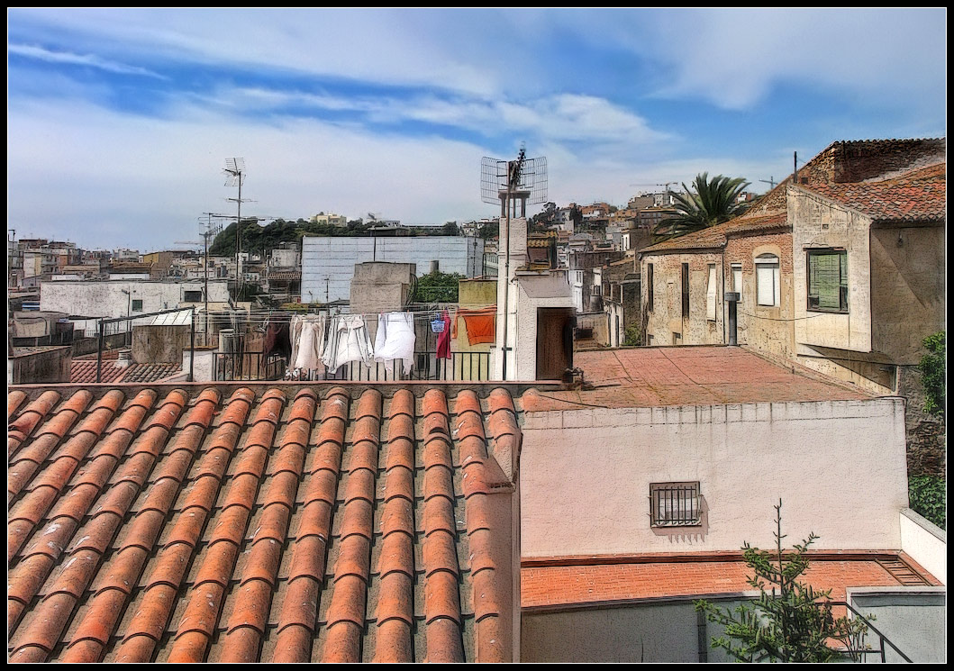 "photo ""Catalan roof"" tags: city, architecture, landscape,"