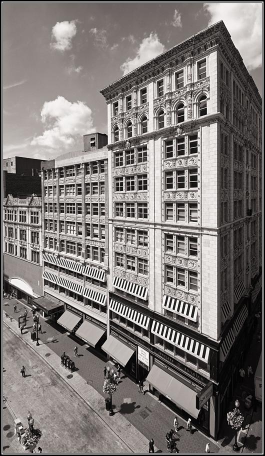 "фото ""Бостонский Даунтаун Кроссинг на углу Вашингтон стрит и Бромфилд стрит."" метки: архитектура, город, пейзаж,"