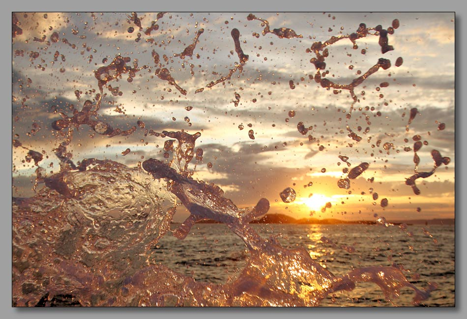 "photo ""Заход Солнца на море. Детали."" tags: landscape, fragment, water"