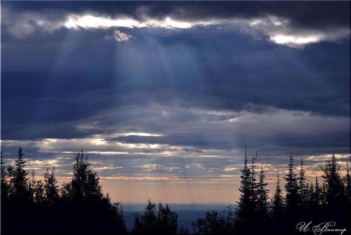 """фото """"Небесный свет"""" метки: пейзаж, закат"""