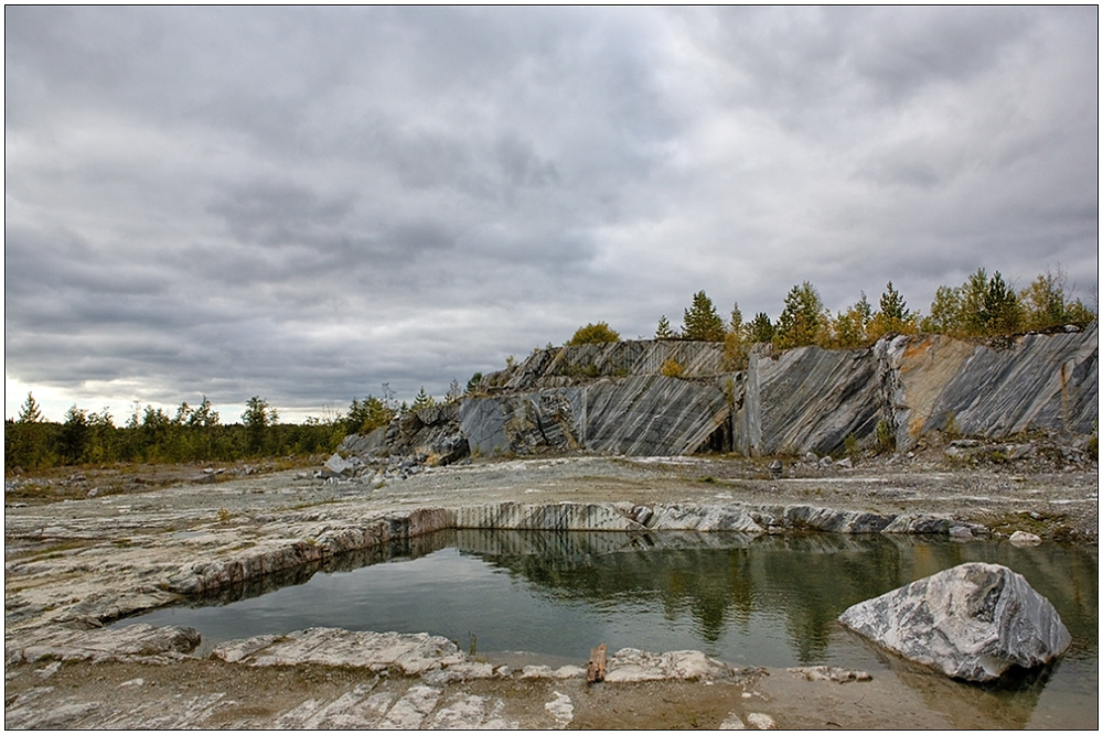 "фото ""Сурово-мраморный пейзаж"" метки: пейзаж, вода, осень"