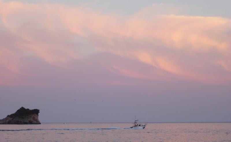 "фото ""Закат на Адриатике"" метки: пейзаж, закат, облака"