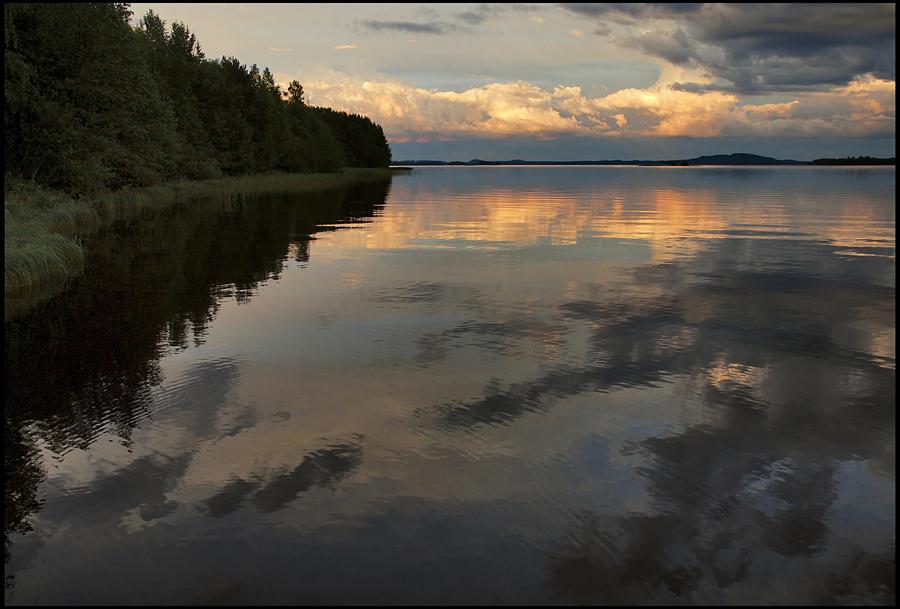 "фото ""вечер у озера"" метки: пейзаж, вода, лето"
